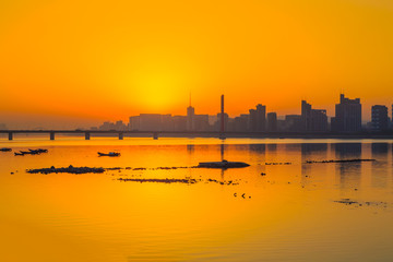 Hangzhou Qiantang River evening beauty