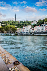 Les quais de Saône à Lyon