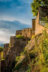 Vue sur le Fort Saint-Jean à Lyon des quais de Saône