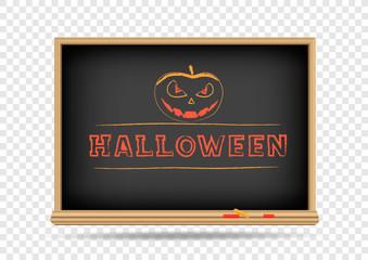 blackboard Halloween drawing