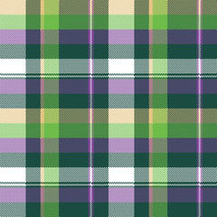 Green purple seamless pattern check fabric texture