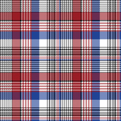 Pixel plaid fabric seamless check pattern