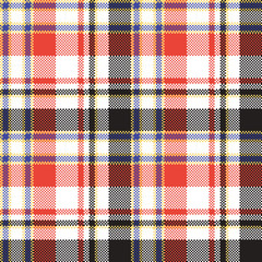 Plaid mosaic pixel seamless pattern