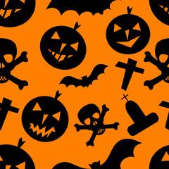 seamless halloween background, vector illustration,