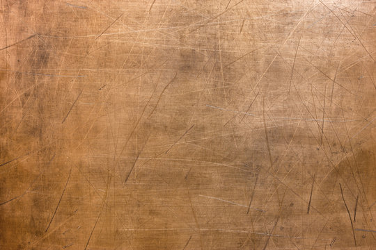 Vintage copper texture, bronze metal surface background