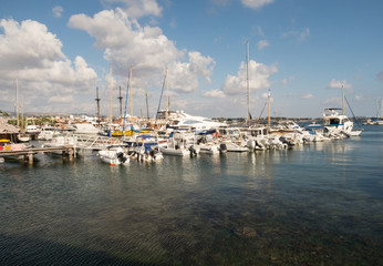 The harbour at Paphos in Cyprus