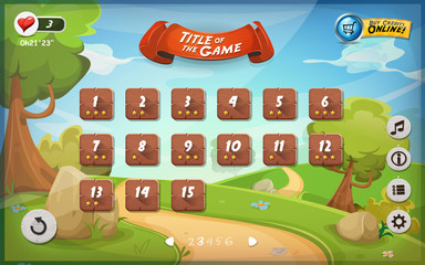 Game User Interface Design For Tablet