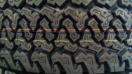 Textured pattern of a new tire background