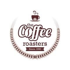Vintage coffee emblem logo