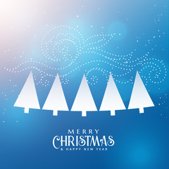 seasonal winter christmas background with trees