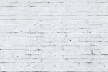 White brick wall texture or background.