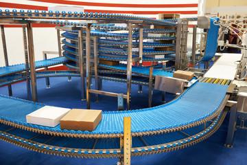 Conveyor belt to move around factory goods