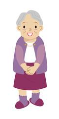 シニア おばあさん 全身 かわいい