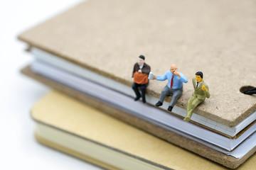 miniature people: businessman