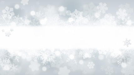 Background of snowflakes with stripe for inscription