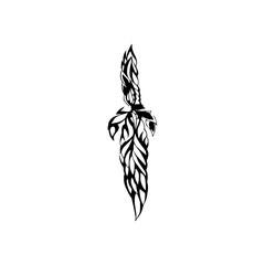 Tattoo design, vector.