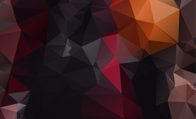 Dark vector blurry triangle background design. Geometric background in Origami style with gradient