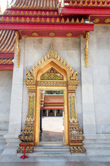 Printed roller blinds China The door of famous marble Buddhist temple of Wat Benchamabophit, Bangkok, Thailand