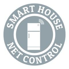 Net control logo, simple gray style
