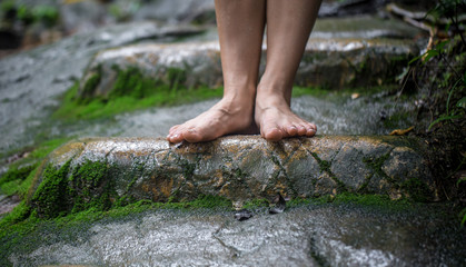 bare female feet