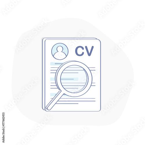 cv icon concept curriculum vitae resume symbol document and
