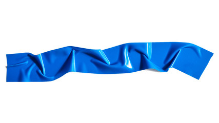 Blue adhesive tape isolated on white background