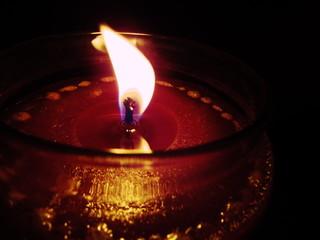 enjoying a candle lit night
