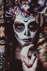 muertos halloween makeup