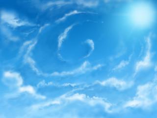 Sky digital - Jentle sky with a swirl of clouds