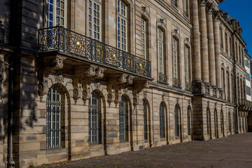 Balkon am Palais Rohan in Straßburg