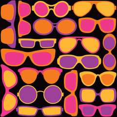 Sunglasses Pattern in Warm Colors