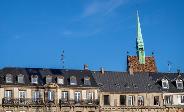 Turm einer Kirche in Strasbourg