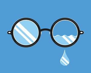 Glasses Tear
