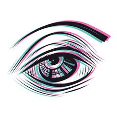 sketchy eye illustration