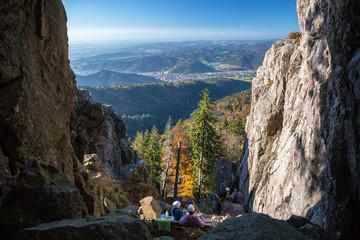 Große Grosse Kandelfelsen Kandel Black Forest