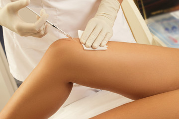 Concept of skin rejuvenation or joint pain treatment
