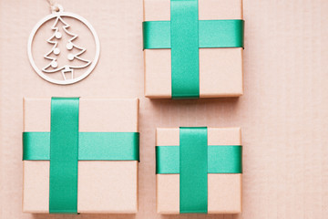 Fir tree shape and gift boxes