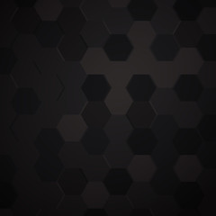 Black grunge background created from hexagon
