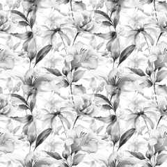 Seamless wallpaper with Lily flowers