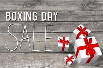 Boxing Day sale illustration