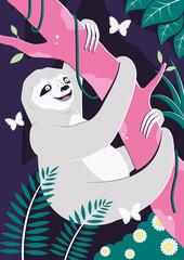 Sloth In Jungle