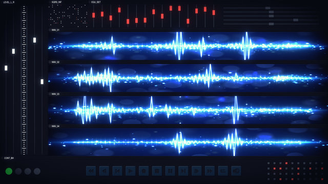 User interface of audio editing software