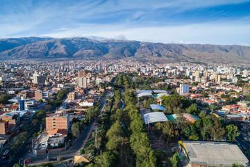 Rio Rocha Aerial view in the heart of Cochabamba, Bolivia