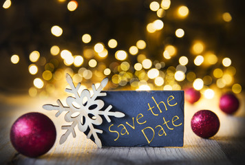 Christmas Background, Lights, Save The Date