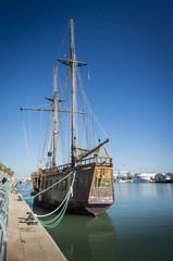 Sailing Ship at Port