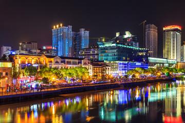 City architecture landscape night view