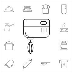 kitchen mixer. Set of kitchen icons