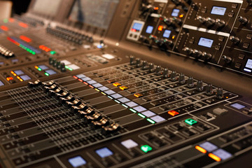 professional sound mixing console