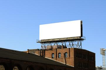 Blank Bulletin Billboard On Rooftop