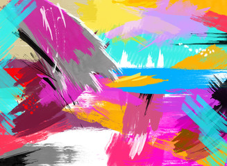 Abstract Painting Bright Colors